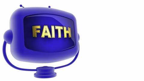 tv faith blue Stock Video Footage