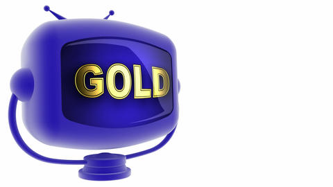 tv gold blue Animation