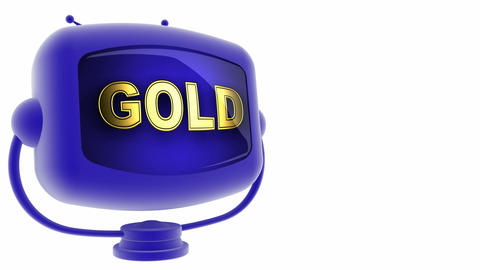 tv gold blue Stock Video Footage