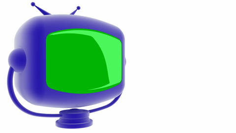 tv blue greenscreen Stock Video Footage