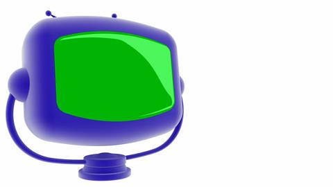 tv blue greenscreen Stock Video Footage