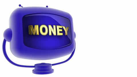 tv money blue Stock Video Footage