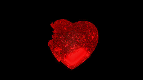 Red Heart explosion with Slow motion. Alpha channel is... Stock Video Footage