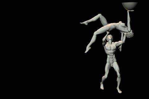 statues 3 obj 3D Model