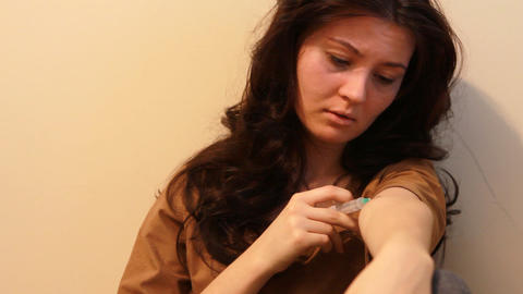 woman giving an injection Footage