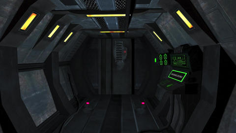 INSIDE SPACE SHIP HD 6 Animation