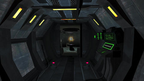 INSIDE SPACE SHIP HD 6 Stock Video Footage