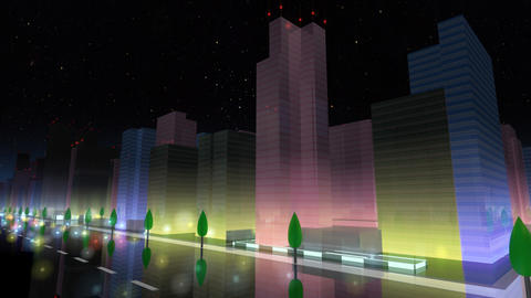 City Building NA03B HD Animation