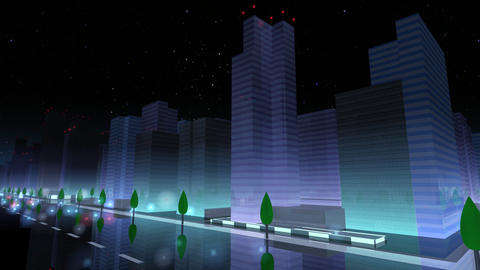City Building NAC03B HD Animation