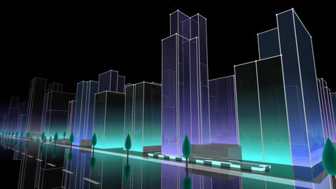 City Building NC03B HD Animation