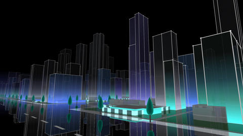 City Building NC03B HD Stock Video Footage