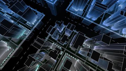 City Building NC07B HD Stock Video Footage