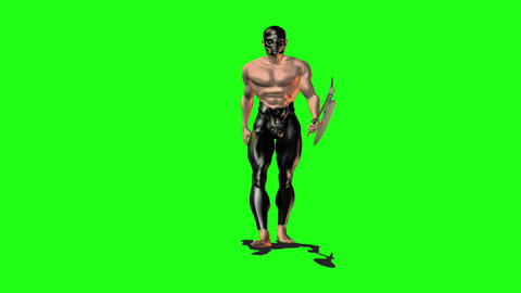 Axe man 1 Stock Video Footage