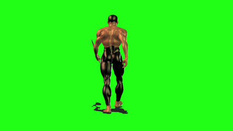Axe man 3 Stock Video Footage