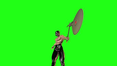 Axe man 7 Stock Video Footage