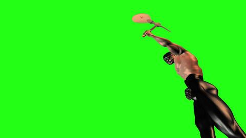 Axe man 9 Stock Video Footage