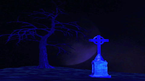 Grave Yard 3 Stock Video Footage
