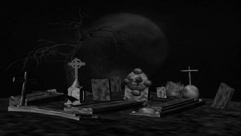 Grave Yard 6 Stock Video Footage