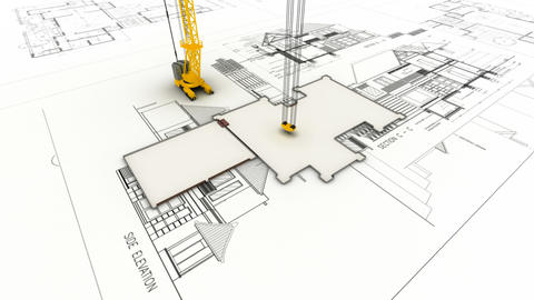 building draw Stock Video Footage