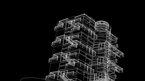 building sketch grow Stock Video Footage