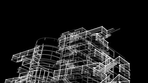 building sketch grow Animation