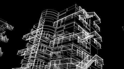 building sketch grow Stock Video Footage