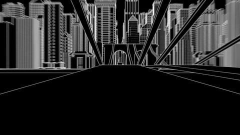 city sketch ink Animation