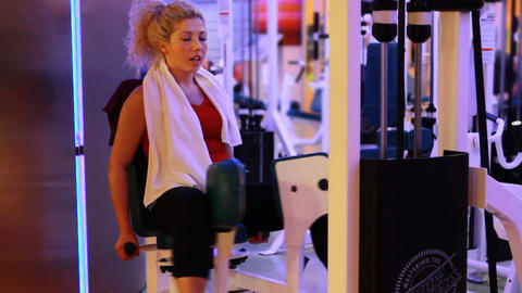 girl doing sports in a gym 21 Stock Video Footage
