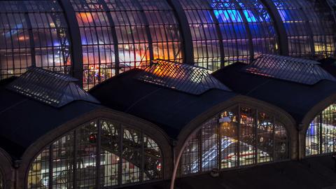 3K Hamburg central station close up dslr dolly sho Footage