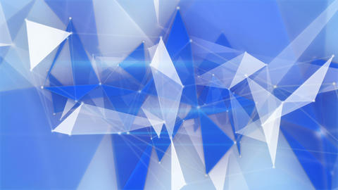 blue network structures flying loopable background Animation