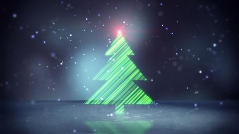christmas tree shape on ice loopable Animation