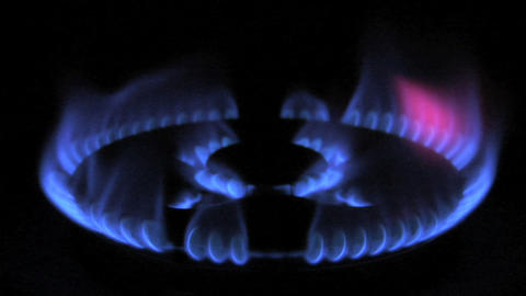 gas flame 01 Stock Video Footage