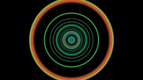 vj loop circle 01 Stock Video Footage