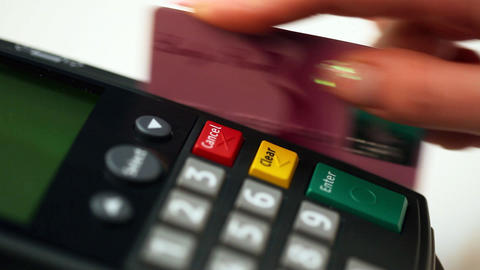 Payment by credit card Stock Video Footage