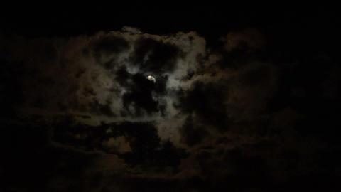 moon cloud 03 Stock Video Footage