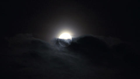 moon cloud closeup 05 Footage
