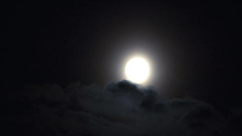 moon cloud closeup 05 Stock Video Footage