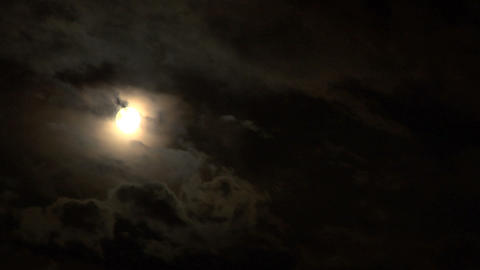 moon stormy 03 Stock Video Footage