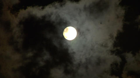 moon stormy closeup 02 Stock Video Footage
