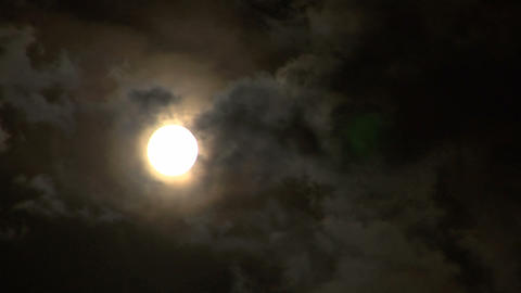 moon stormy closeup 04 Footage