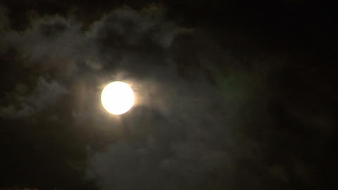 moon stormy closeup 04 Stock Video Footage