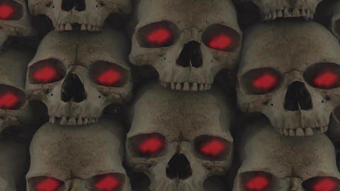 Skulls 7HD Stock Video Footage