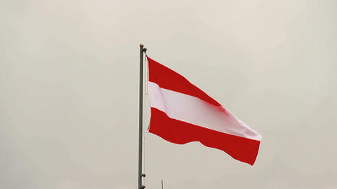 Austrian Flag Stock Video Footage