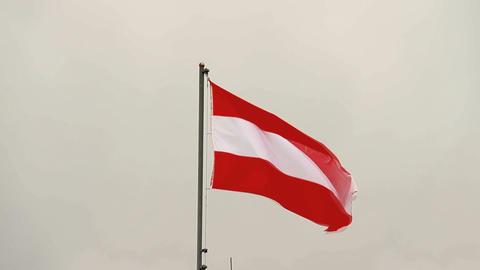 Austrian Flag Footage