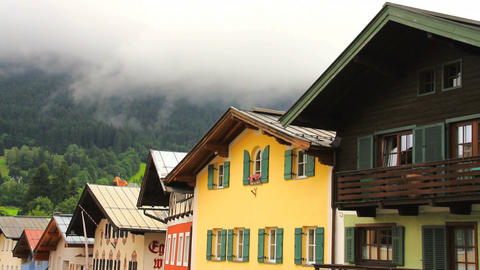 Houses In The Alps Tirol Stock Video Footage