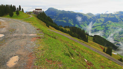 In The Alps 10 Hahnenkamm Top Pans Stock Video Footage