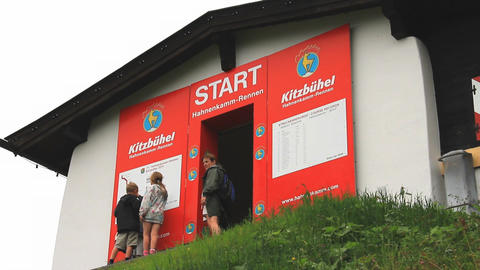 In The Alps 14 Hahnenkamm Start 3in1 Stock Video Footage