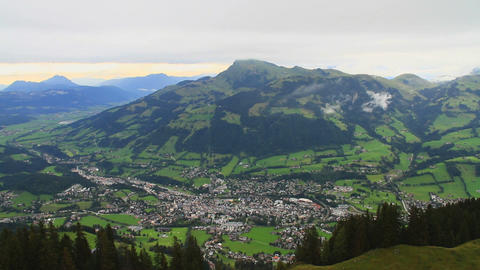 InThe Alps 18 Kitzbuehel In the Valley Stock Video Footage