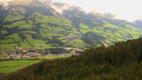 In The Alps 20 Aerial From Ski Lift Footage