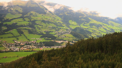In The Alps 20 Aerial From Ski Lift Stock Video Footage